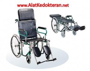 Kursi-Roda-Optima-onemed-murah-bisa ditidurkan untuk rebahan sandaran bisa direbahkan